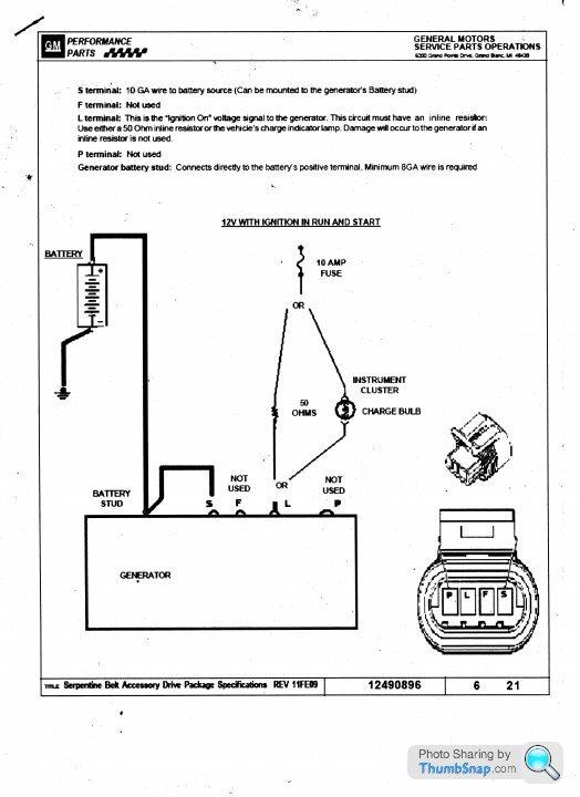 chevy ls1 alternator wiring? - page 1 - engines & drivetrain - pistonheads  pistonheads