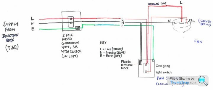 Extractor Fan And Switch Circuit Wiring, Extractor Fan Wiring Diagram