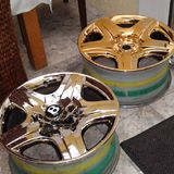 wheels pistonheads gold plated