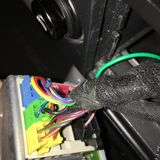 Wires at back of radio..