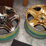 gold plated wheels pistonheads